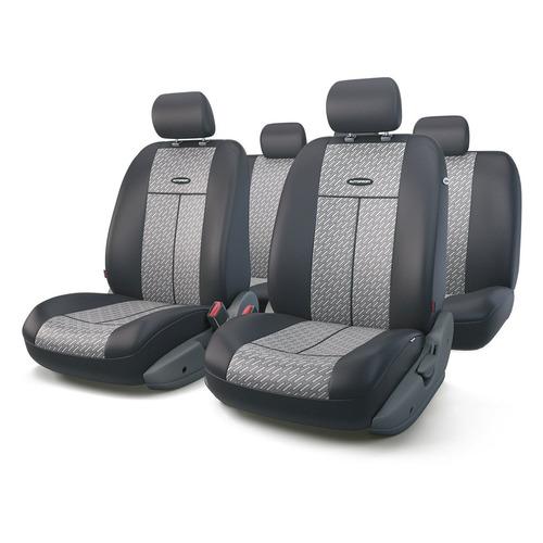 Чехол Autoprofi TT-902J Steel жаккард/полиэстер черный/серый аксессуары для автомобиля autoprofi автомобильные чехлы tt airbag tt 902j 9 предметов