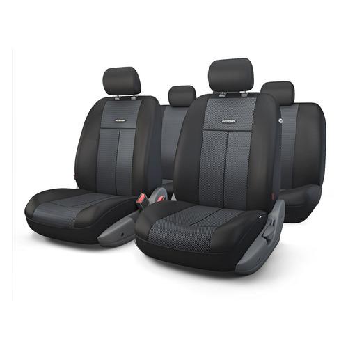 Чехол Autoprofi TT-902M BK/BK ткань/полиэстер черный аксессуары для автомобиля autoprofi автомобильные чехлы tt airbag tt 902m 9 предметов