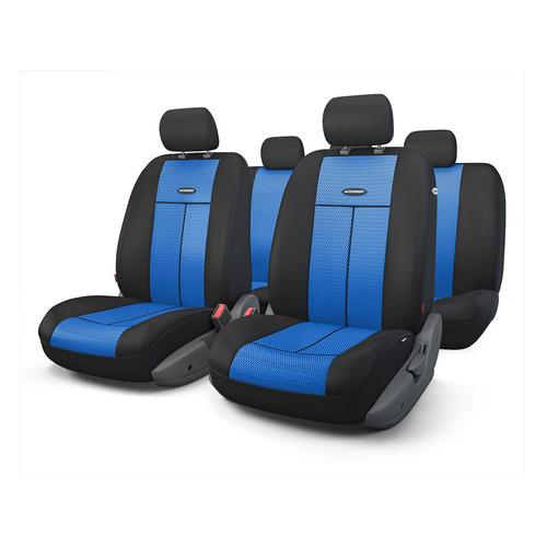 Чехол Autoprofi TT-902M BK/BL ткань/полиэстер черный/синий аксессуары для автомобиля autoprofi автомобильные чехлы tt airbag tt 902m 9 предметов