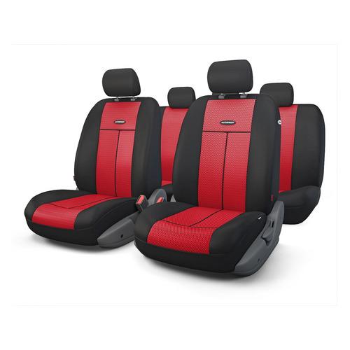 Чехол Autoprofi TT-902M BK/RD ткань/полиэстер черный/красный аксессуары для автомобиля autoprofi автомобильные чехлы tt airbag tt 902m 9 предметов