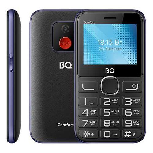 телефон BQ Comfort 2301, черный/синий сотовый телефон bq 2301 comfort red black