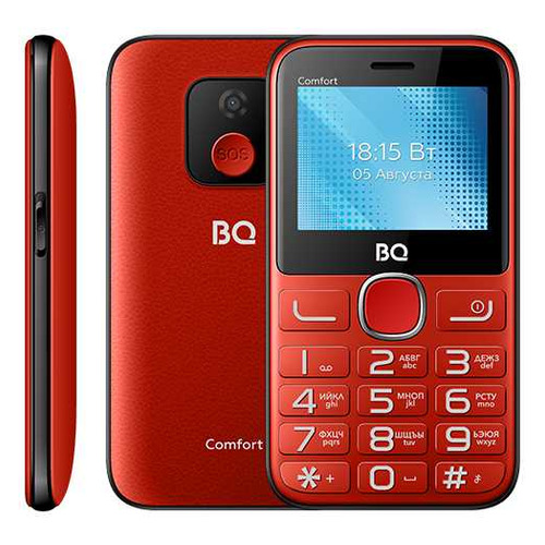 телефон BQ Comfort 2301, красный/черный телефон bq comfort 2301 черный золотистый