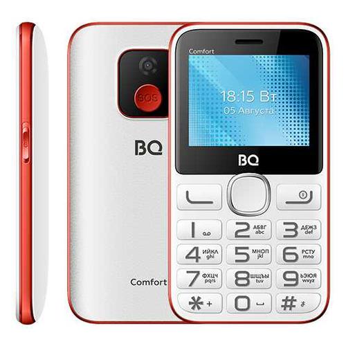 телефон BQ Comfort 2301, белый/красный сотовый телефон bq 2301 comfort red black
