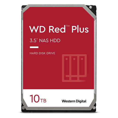 "Жесткий диск WD Red Plus WD101EFBX, 10ТБ, HDD, SATA III, 3.5"""