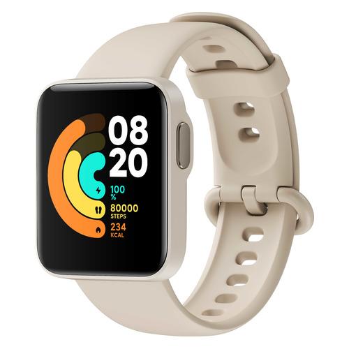 Смарт-часы Xiaomi Mi Watch Lite RU, 1.4, светло-бежевый / светло-бежевый [bhr4706ru] смарт часы xiaomi mi watch lite ru 1 4 синий синий [bhr4705ru]