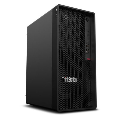 Фото - Рабочая станция LENOVO ThinkStation P340, Intel Xeon W 1270P, DDR4 16ГБ, 512ГБ(SSD), Intel UHD Graphics P630, DVD-RW, CR, Windows 10 Professional, черный [30dh00hfru] рабочая станция hp z8 g4 intel xeon gold 5220 ddr4 32гб 512гб ssd dvd rw windows 10 workstation plus professional черный [6tt64ea]
