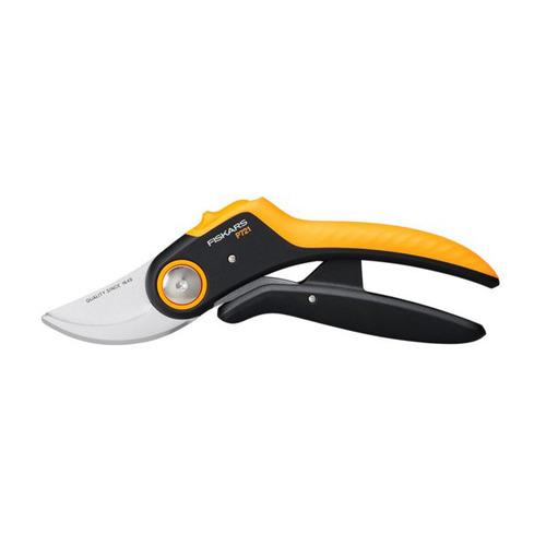 Секатор плоскостной Fiskars PowerLever P721 черный/оранжевый (1057170) недорого