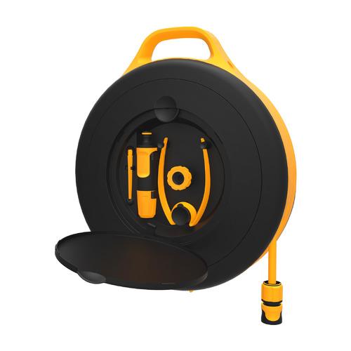 Катушка для шланга Fiskars 1020436 черный/оранжевый шланг в компл. 15м