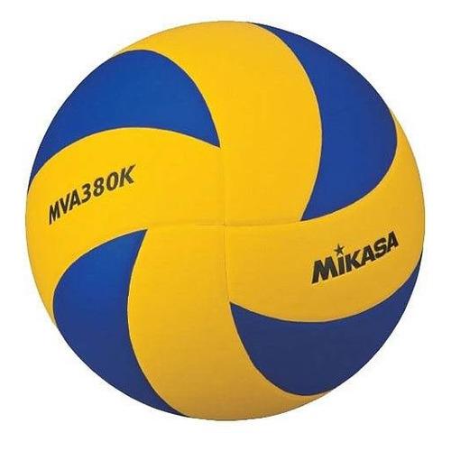 Мяч волей. Mikasa MVA380K р.5 для тв.покр. синий/желтый (00000112803)