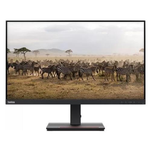 """Монитор Lenovo ThinkVision S27e-20 27"""", черный [62afkat2eu]"""