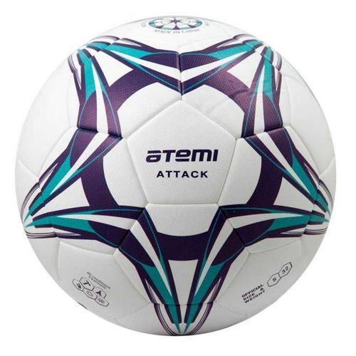 Мяч футб. Atemi Attack р.5 для газона белый (00000136423)