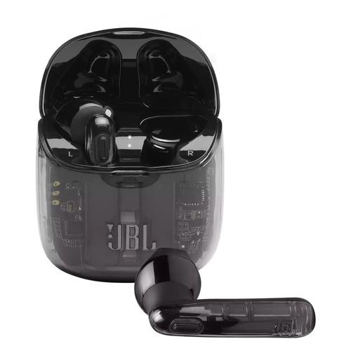 Гарнитура JBL T225 TWS, Bluetooth, вкладыши, прозрачный/черный [jblt225twsghostblk]