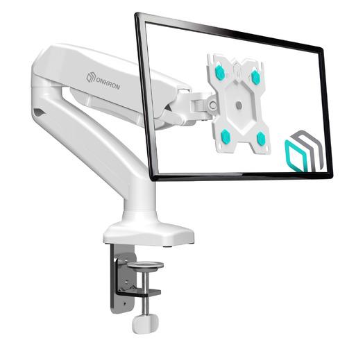 Фото - Кронштейн для мониторов Onkron G80W белый 13-32 макс.8кг настольный поворот и наклон верт.перемещ. кронштейн для монитора рэмо к 501