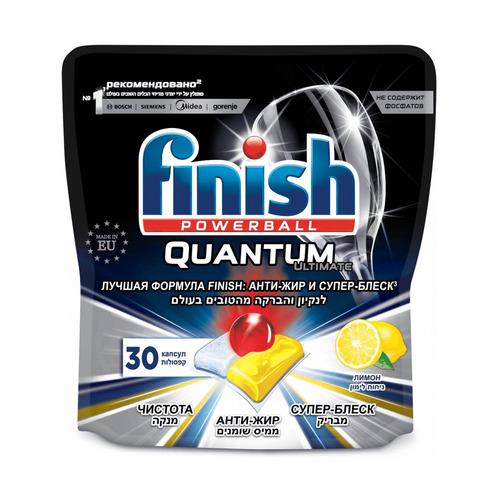 Капсулы Finish Quantum Ultimate для посудомоечных машин, 30шт [3120271] недорого
