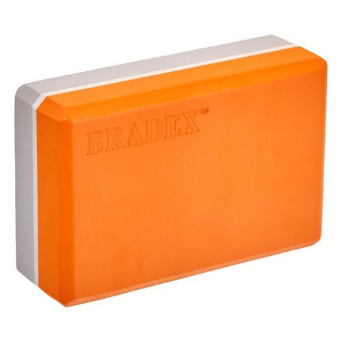 Фото - Блок для йоги Bradex SF 0731 пеноматериал ш.:230мм в.:150мм т.:75мм оранжевый/серый блок для йоги bradex sf 0407 sf 0408 sf 0409 серый