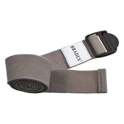 Фото - Ремень для йоги Bradex SF 0410 дл.:183см ш.:3.5см серый блок для йоги bradex sf 0407 sf 0408 sf 0409 серый