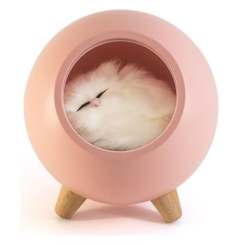 Фото - Ночник Lucia Котенок в домике пластик розовый ночник lucia фламинго силикон пластик белый розовый