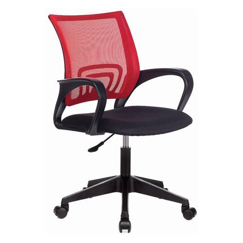 Фото - Кресло Бюрократ CH-695NLT, на колесиках, сетка/ткань, красный/черный [ch-695nlt/r/tw-11] кресло бюрократ ch 296nx на колесиках сетка ткань бордовый [ch 296 dc 15 11]