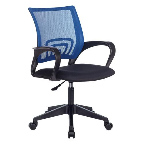 Фото - Кресло Бюрократ CH-695NLT, на колесиках, сетка/ткань, синий/черный [ch-695nlt/bl/tw-11] кресло бюрократ ch 296nx на колесиках сетка ткань бордовый [ch 296 dc 15 11]