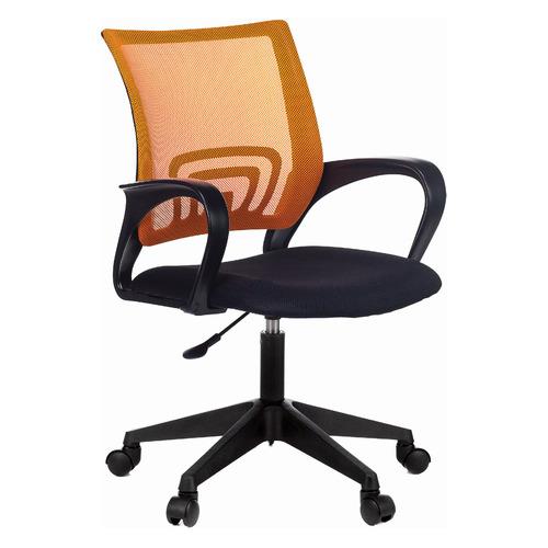 Фото - Кресло Бюрократ CH-695NLT, на колесиках, сетка/ткань, оранжевый/черный [ch-695nlt/or/tw-11] кресло бюрократ ch 296nx на колесиках сетка ткань бордовый [ch 296 dc 15 11]