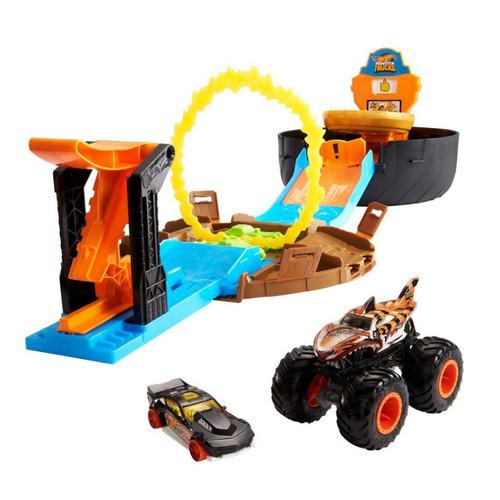 Игровой набор Hot wheels Автотрек Трюковая арена, гоночная машина [gvk48] mattel автотрек hot wheels винтовое столкновение