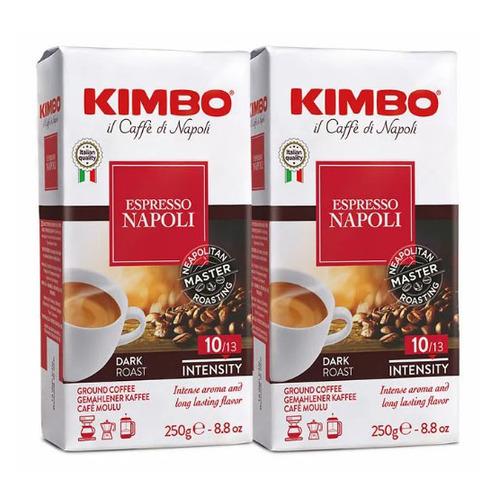 Кофе молотый KIMBO Espresso Napoletano, средняя обжарка, 2х250 гр