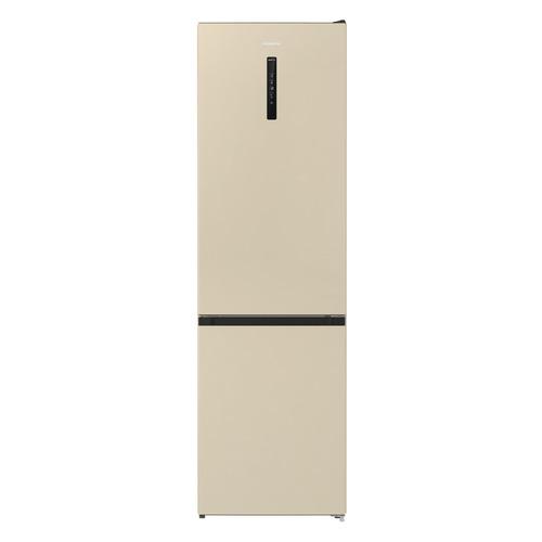 Холодильник GORENJE NRK6202AC4, двухкамерный, бежевый холодильник gorenje rk621syb4 черный двухкамерный