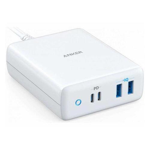 Фото - Сетевое зарядное устройство ANKER PowerPort Atom IV, 2xUSB + 2xUSB type-C, 5A, белый сетевое зарядное устройство anker powerport pd 4 100w 2xusb 2xusb c белое