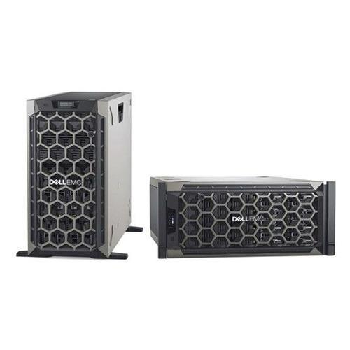 Фото - Сервер Dell PowerEdge T340 1xE-2224 1x16Gb 1RUD x8 1x1.2Tb 10K 2.5/3.5 SAS H330 FH iD9En 1G 2P 1x4 сервер dell poweredge r340 1xe 2174g 1x16gbud x8 1x1 2tb 10k 2 5 sas rw h330 id9ex 1g 2p 1x350w 3y