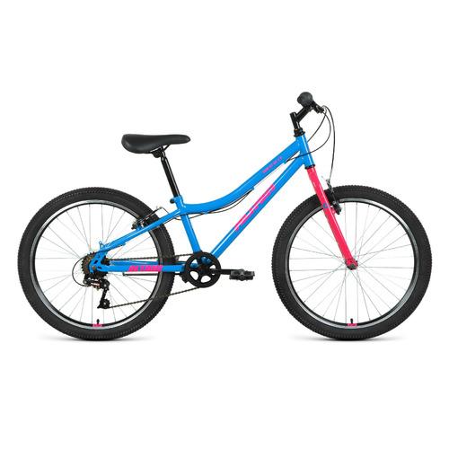 """Велосипед Altair MTB HT 24 1.0 (2021) горный (подростк.) рам.:12"""" кол.:24"""" голубой/розовый (RBKT11N4"""