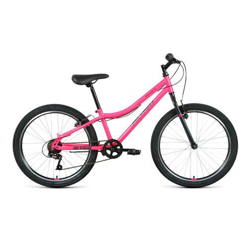"""Велосипед Altair MTB HT 24 1.0 (2021) горный (подростк.) рам.:12"""" кол.:24"""" розовый/серый (RBKT11N460"""