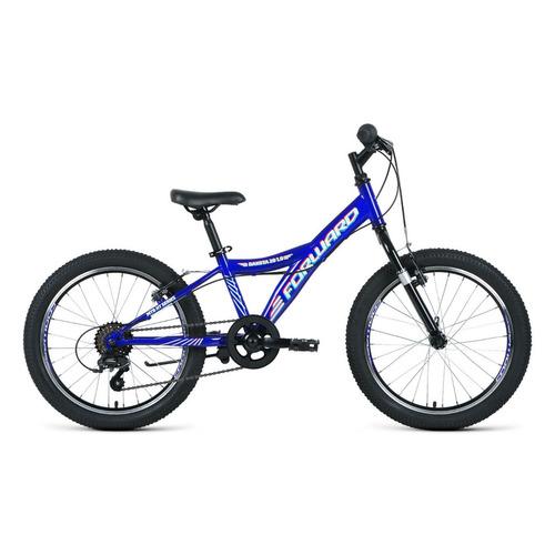 """Велосипед Forward Dakota 20 1.0 (2021) горный (детск.) рам.:10.5"""" кол.:20"""" синий/белый 12.1кг (RBKW1"""