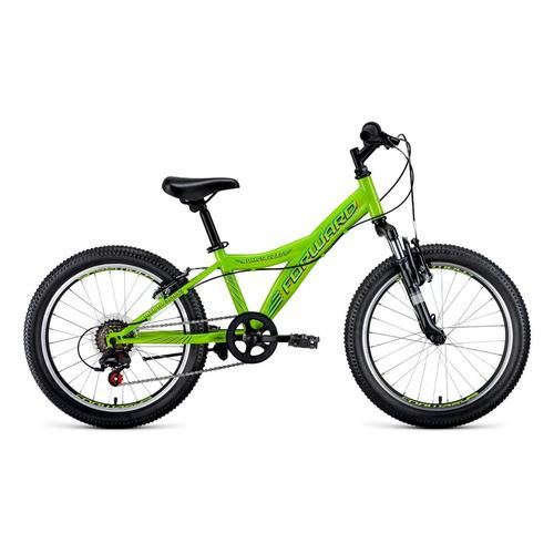"""Велосипед Forward Dakota 20 2.0 (2021) горный (детск.) рам.:10.5"""" кол.:20"""" зеленый 13кг (RBKW1J10600"""