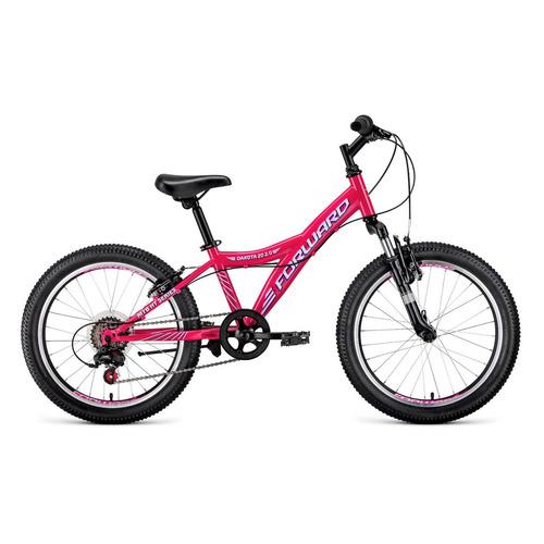 """Велосипед Forward Dakota 20 2.0 (2021) горный (детск.) рам.:10.5"""" кол.:20"""" розовый/белый 13кг (RBKW1"""
