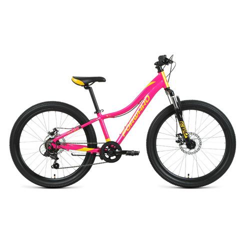 """Велосипед Forward Jade 24 2.0 disc (2021) горный (подростк.) рам.:12"""" кол.:24"""" розовый/золотой 15кг"""