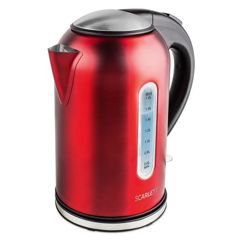 Фото - Чайник электрический SCARLETT SC-EK21S56, 2200Вт, красный и черный чайник электрический scarlett sc ek21s76 2л 1800вт красный