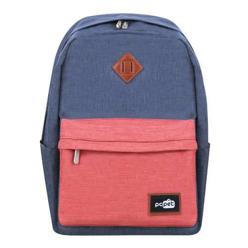 "Рюкзак 14.1"" PC PET PCPKA0314GO, серый/оранжевый"