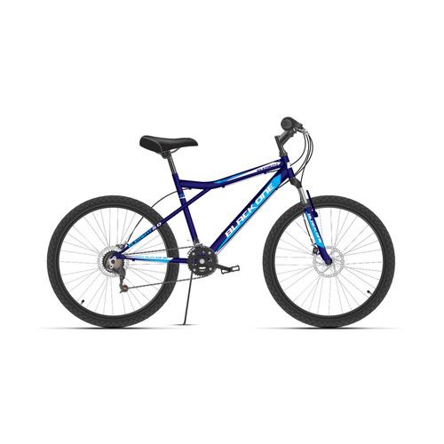 Велосипед Black One Element 26 D (2021) городской рам.:18 кол.:26 синий/белый 22кг (HD00000464)