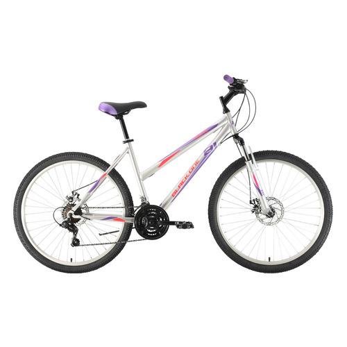"""Велосипед Black One Alta 26 D (2021) горный рам.:16"""" кол.:26"""" серебристый/фиолетовый 16.3кг (HD00000"""