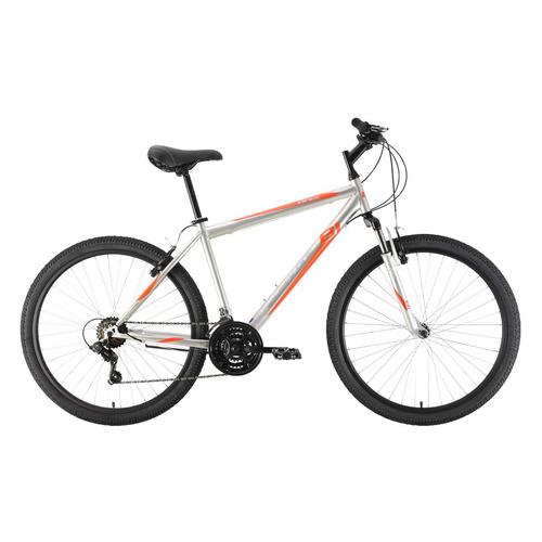 """Велосипед Black One Onix 26 (2021) горный рам.:18"""" кол.:26"""" серебристый/оранжевый 15.9кг (HD00000428"""