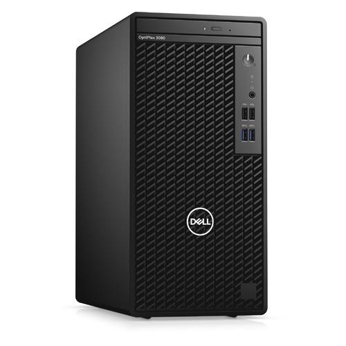 Компьютер DELL Optiplex 3080, Intel Core i3 10100, DDR4 8ГБ, 256ГБ(SSD), Intel UHD Graphics 630, DVD-RW, Windows 10 Professional, черный [3080-5139]
