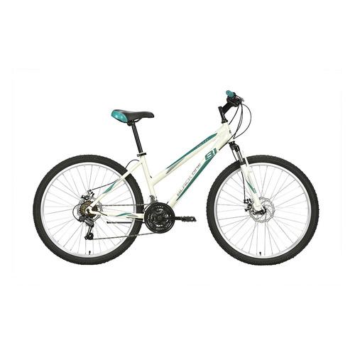 Велосипед Black One Alta 26 D (2021) горный рам.:14.5 кол.:26 белый/салатовый 16.3кг (HD00000447)