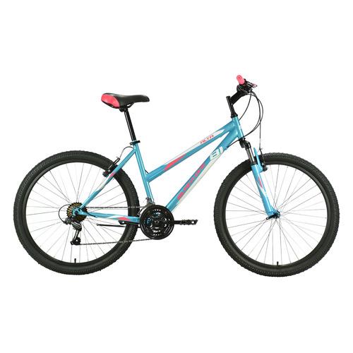 """Велосипед Black One Alta 26 (2021) горный рам.:18"""" кол.:26"""" голубой/розовый 16.3кг (HD00000456)"""