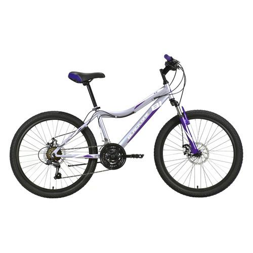 "Велосипед Black One Ice 24 D (2021) горный (подростк.) рам.:13"" кол.:24"" серый/белый 15.67кг (HD0000"