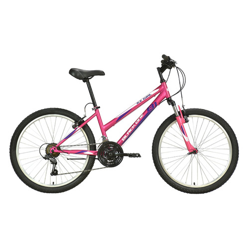 "Велосипед Black One Ice Girl 24 (2021) горный (подростк.) рам.:13"" кол.:24"" розовый/белый 15.5кг (HD"