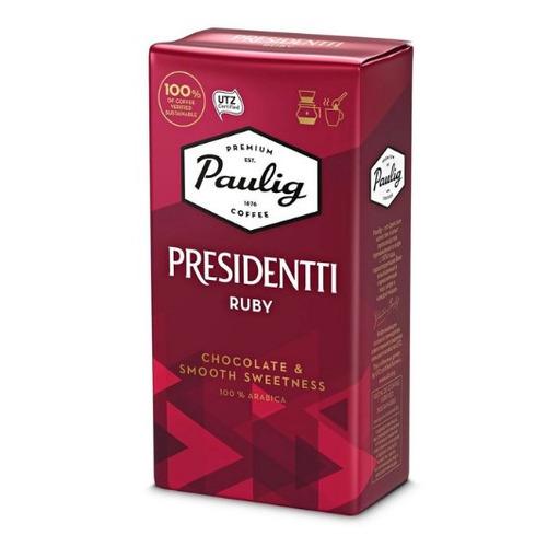 Кофе молотый PAULIG Presidentti Ruby, средняя обжарка, 250 гр [17632] кофе зерновой paulig presidentti original легкая обжарка 1000 гр [17649]