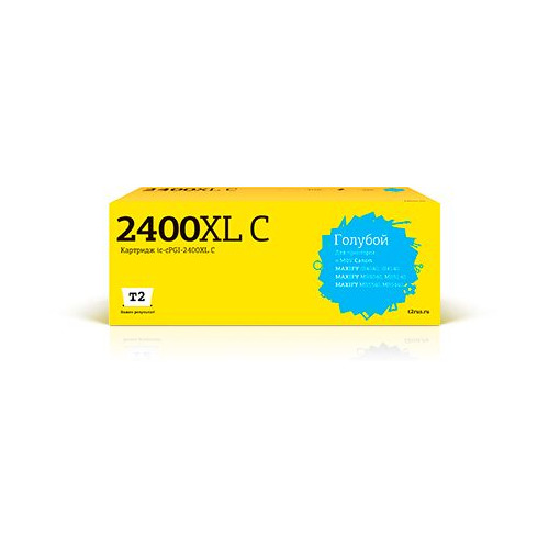 Фото - Картридж T2 IC-CPGI-2400XL C, голубой / PGI-2400XL C картридж t2 ic cpgi 520bk совместимый
