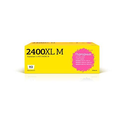 Фото - Картридж T2 IC-CPGI-2400XL M, пурпурный / PGI-2400XL M картридж t2 ic cpgi 520bk совместимый
