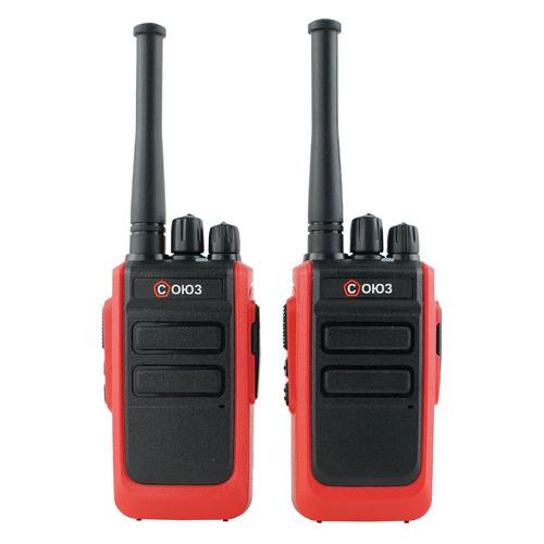 Комплект раций Союз С1x2 16кан. до 9км компл.:2шт аккум. красный (13401)