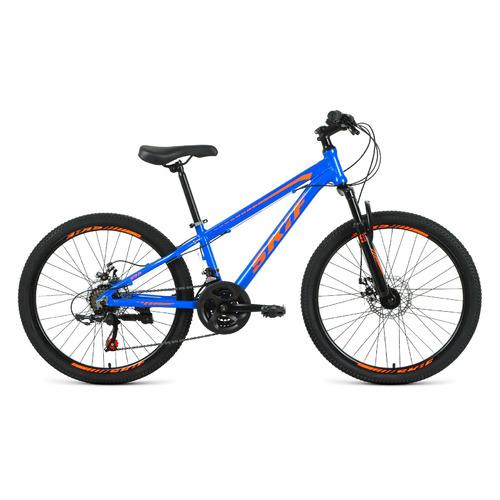 """Велосипед Skif 24 Disc (2021) горный (подростк.) рам.:11.5"""" кол.:24"""" синий/ярко-оранжевый 14.4кг (1B"""